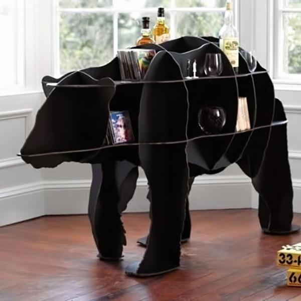 Iron Joe Polar Bear Bookcase #tech #flow #gadget #gift #ideas #cool