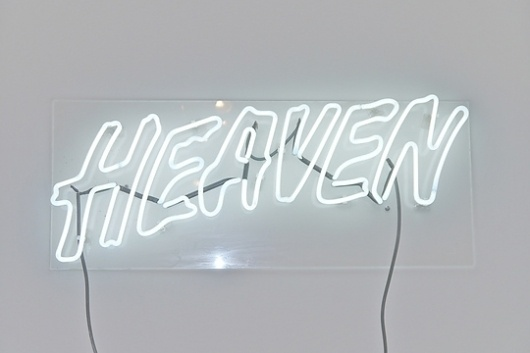 Grey Area | HEAVEN, 2011 #sign #james #anthony #art #neon