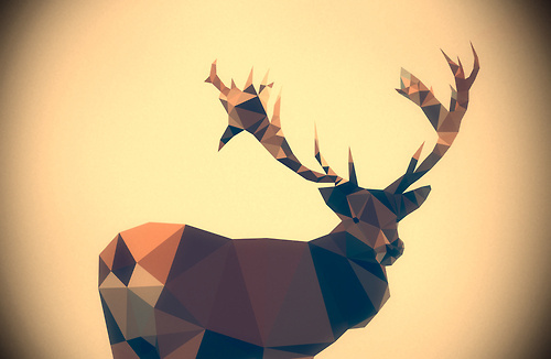 Matěj Kašpar Jirásek Dear deer Next piece from my series of triangular... #deer #triangulation #triangles