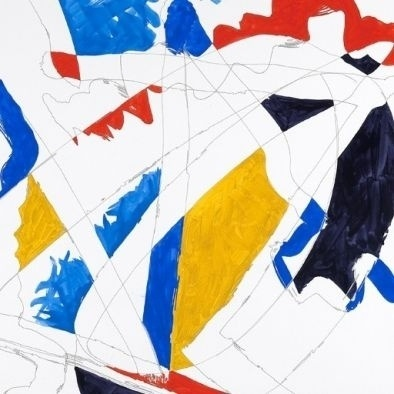 Artspace: Inspace Trade Program #abstract #red #yellow #contemporary #painting #blue