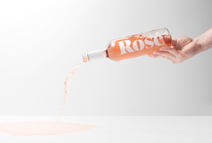 Rochfort Rees by Studio South #bottle #wine #rose #typography