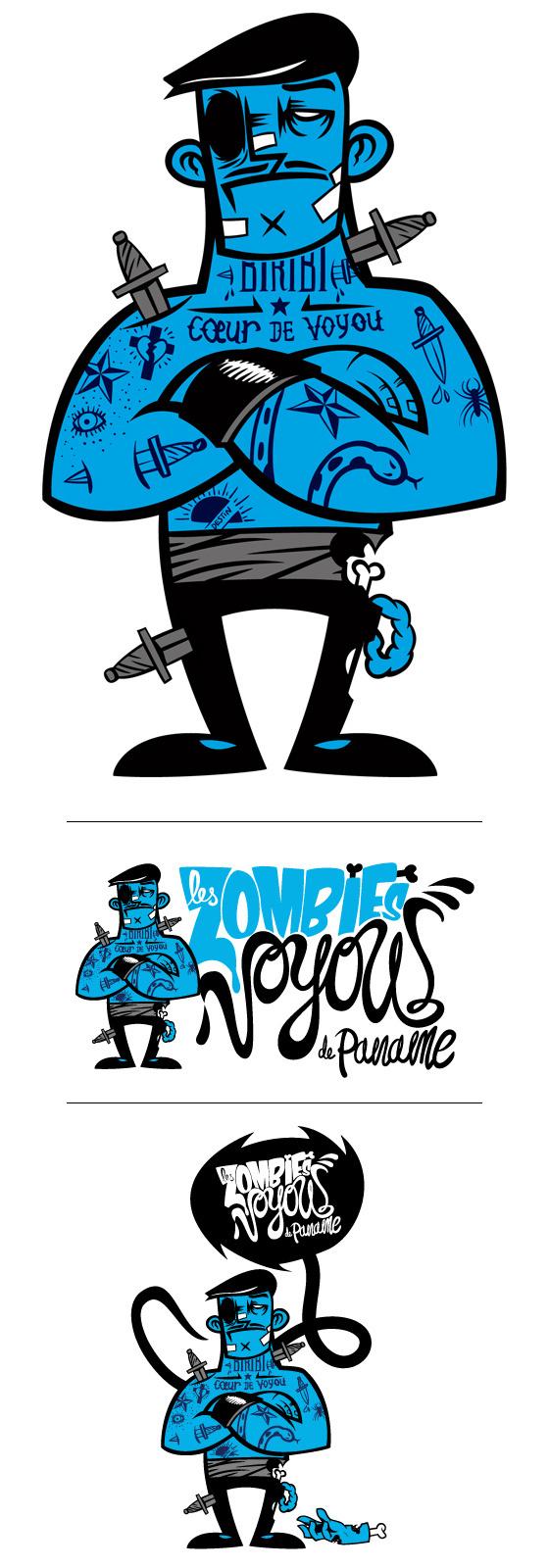 zombiegangmeka #vector #design #illustration #zombie #character