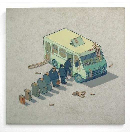 Smithe #queue #animation #van #illustration #deconstructed