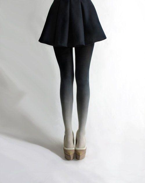 Gradient #tights #legs #skirt #gradient #fashion #grey