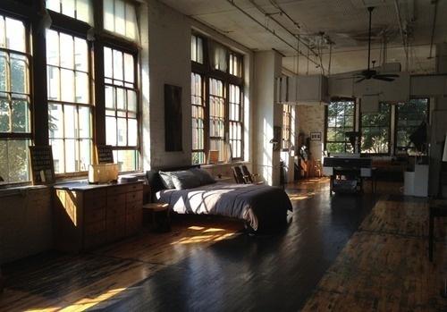 Interior #interior #bed #apartment #light #windows