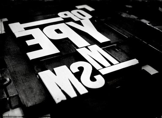 MattyMagpie #machine #letterpress #lead #typography