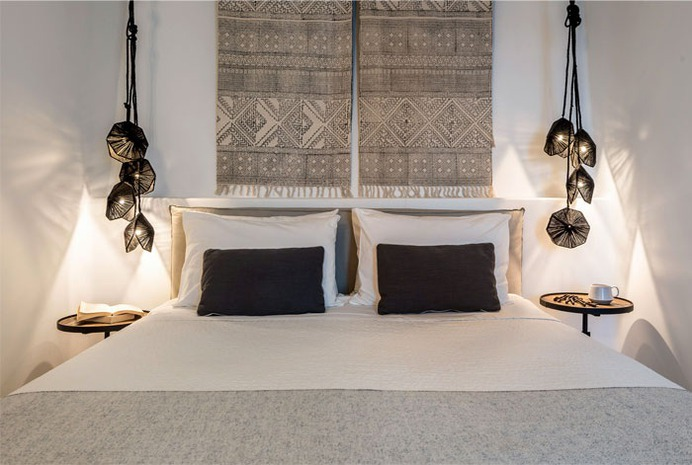 Full Renovation and Redesign of the Porto Fira Suites in Santorini #bedroom