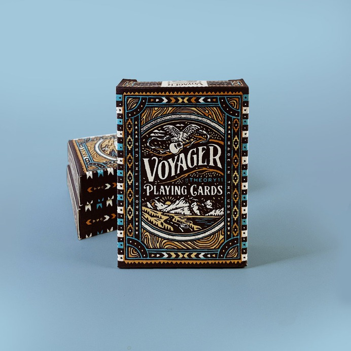Theory11 Voyager Playing Cards by Joshua Noom #joshuanoom #playingcards #cards #design #elegant #noom
