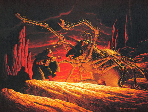 Tim and Greg Hildebrandt Shelob, Lord Of The Rings | Flickr Photo Sharing! #rings #of #spider #lord #the #illustration