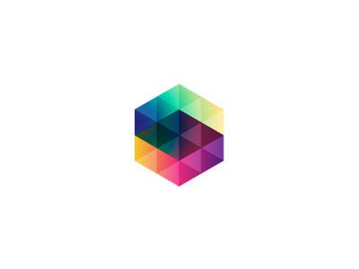 #hexagon#colorful#logo#transparency
