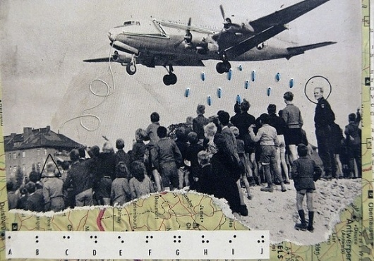 Collage, Letterpress, and Illustration by Izzy Jarvis | The Citrus Report | Art, Culture, News, Graffiti, Music, Street Art, Clothing, Politics, Revie #illustration #collage #maps #planes
