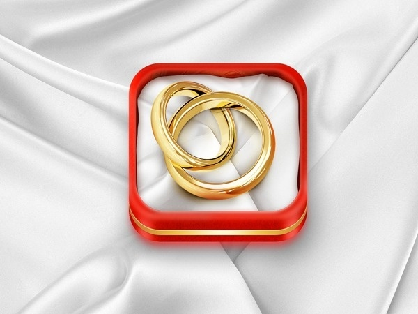 iOS Wedding Planner icon on Behance #ipad #design #icons #iphone #app