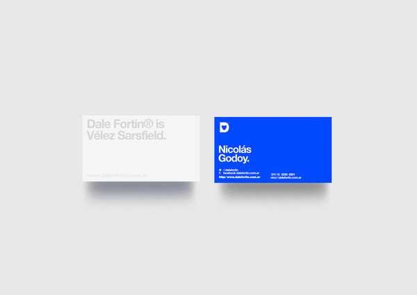Dale Fortin® #design #minimalism #simple #buenos #stationery #blue #helvetica #aires
