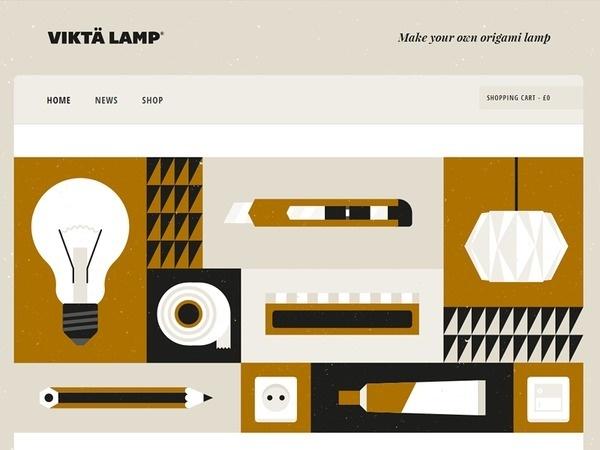 Viktä Lamp Website #illustration