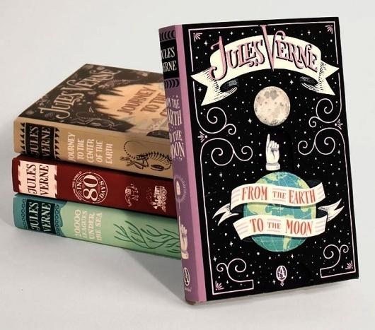 Jules Verne Series #illustration #books #illustrat