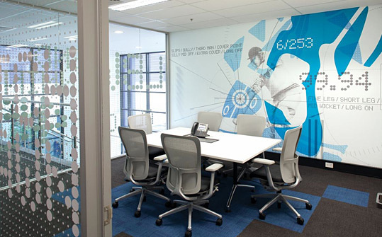 Australian HQ, Asics. Designed by There. @enviromeant.com #graphics #wall
