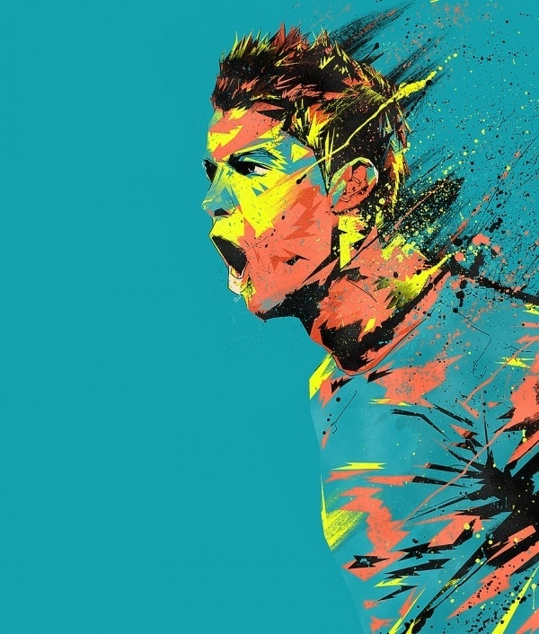 Cristiano Ronaldo | Flickr - Photo Sharing! #soccer #paint #win #energy #drip