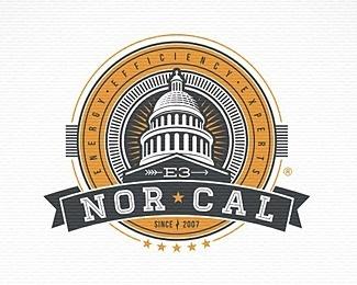 e 3 norcal #vector #cal #branding #illustration #logo #nor