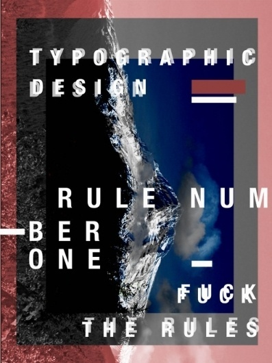 Tumblr #mountain #print #design #graphic #experimental #poster #layout #typography