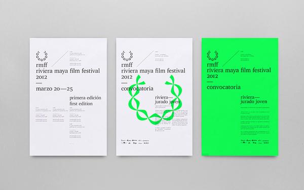 Anagrama | RMFF — Riviera Maya Film Festival #typographic #grid #poster