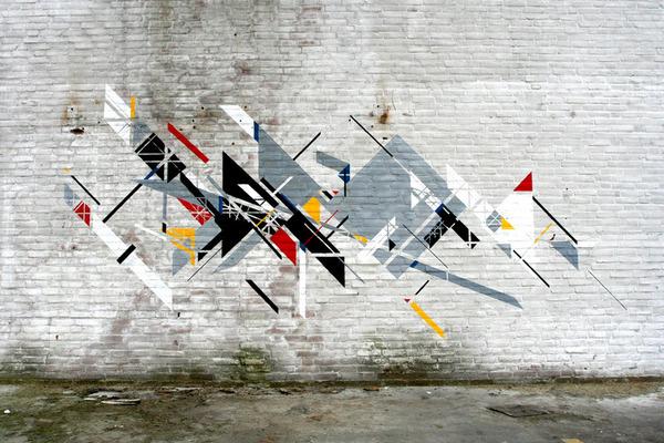 Graphic Surgery, De Stijl, Netherlands unurth   street art #art #de #stijl #street