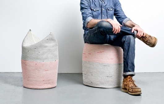 doug johnston: coiled and stitched rope stools #textiles