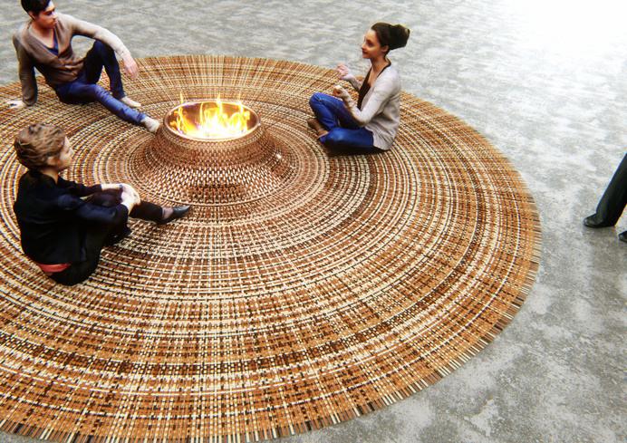 Domestic Gathering - Carpet by Stephanie Langard - www.homeworlddesign. com (2) #ideas #rug #design #carpet