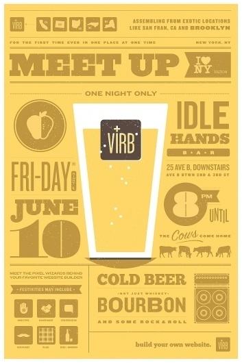 Ryan vs. Clark   Design & Illustration   Virb Meet-Up Poster #icons #poster #typography