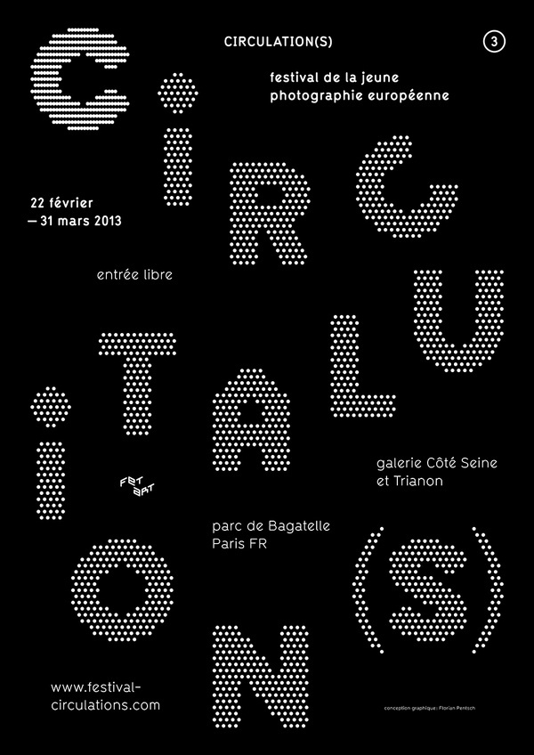 Circulation(s), poster submitted and designed by Florian Pentsch(2013)–Type OnlyUnit Editions #print #poster #typography