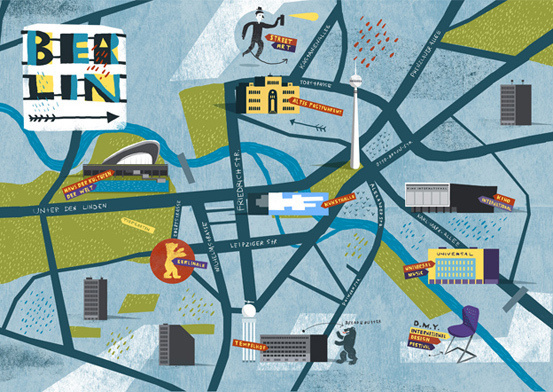Berlin map designed by nomono.