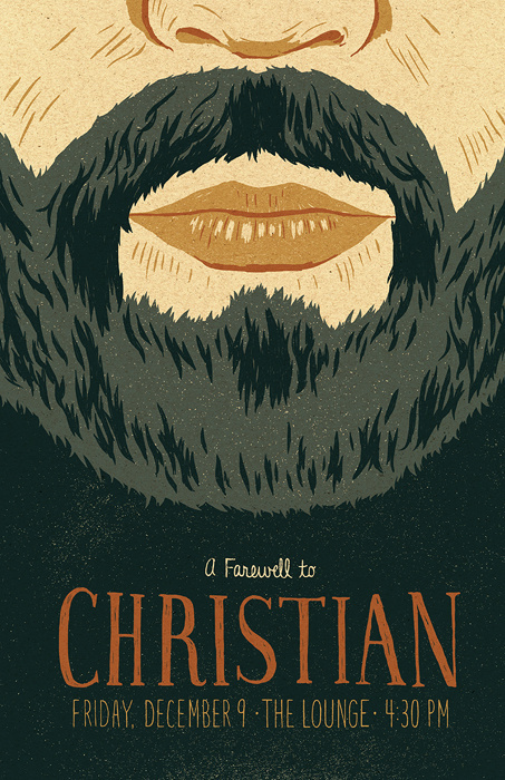 Christian Poster by Jacob Etter #beard #jacob #illustration #etter #poster #typography
