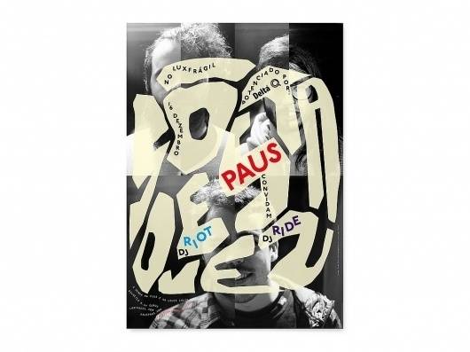All sizes | Só desta vez (PAUS) | Flickr - Photo Sharing! #alva #poster #typography