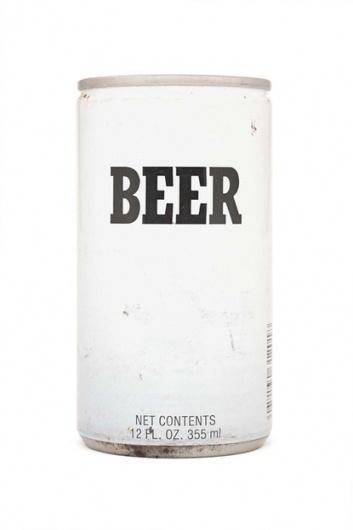 Beautifully simple beer can #packaging #type #minimal
