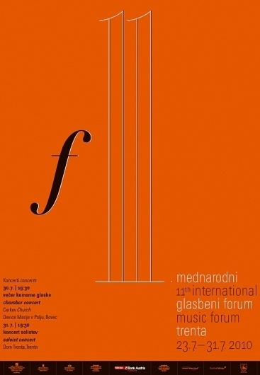 International Music Forums Trenta 2009-2011 on the Behance Network #poster