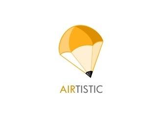 Airtistic by xm #parachute #pencil #logos