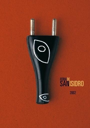 Carteles : Isidro Ferrer #ferrer #huesca #spain #plug #san #isidro #bullfighting #poster #bull