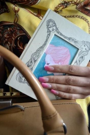 (1) Alexandra Rapcencu #pink #allistration #feminine #notebook #cool