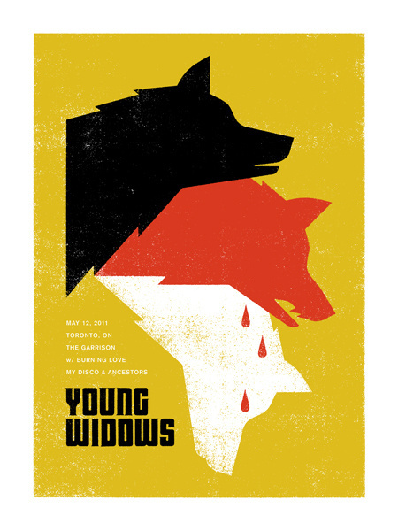 GigPosters.com Young Widows Burning Love My Disco Ancestors #young #print #illustration #gigposter #wolf #widows