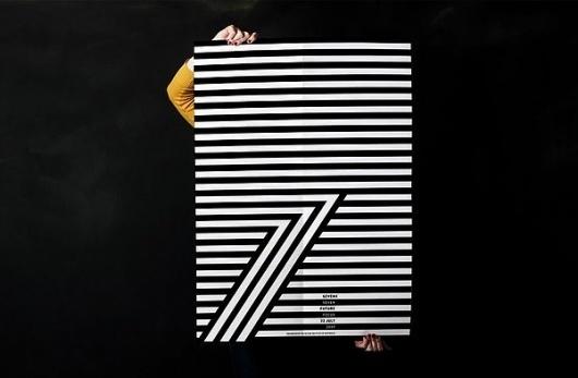 7x7 on Branding Served #white #pattern #branding #black #identity #and
