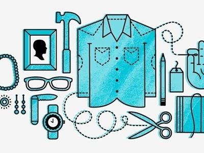 Dribbble - Etsy Illustration by Ryan Feerer #illustration #objects #shirt