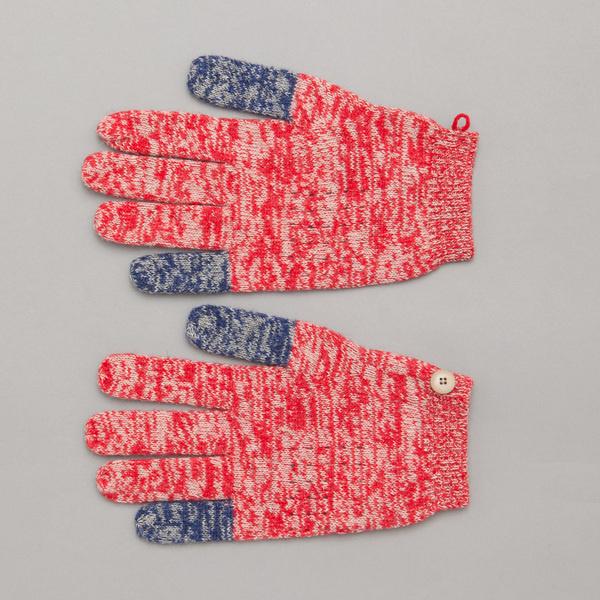 Folk Block Gloves in Twisted Multi #gloves
