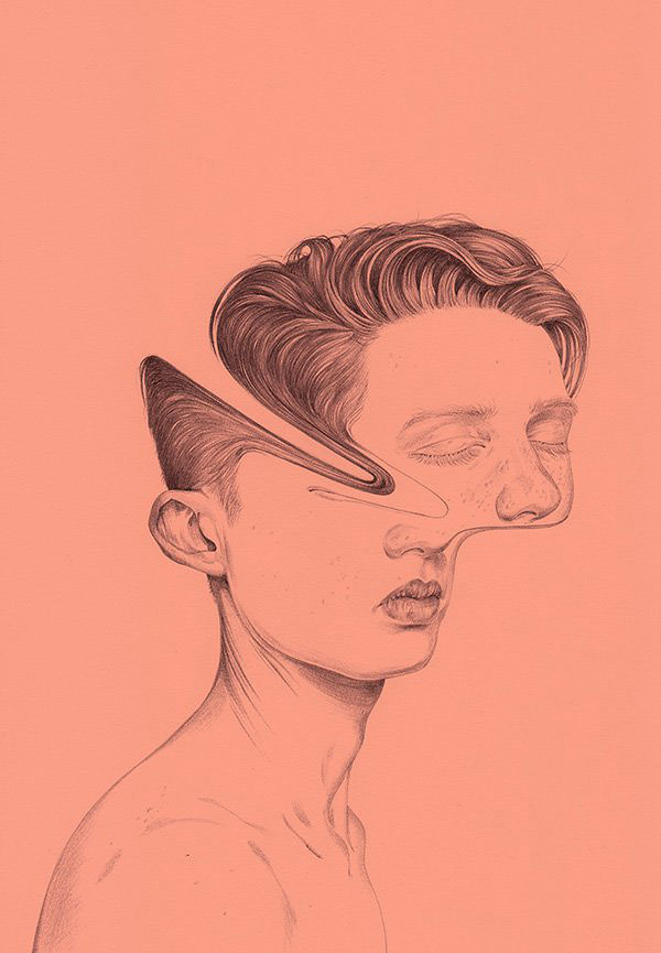 Illustration by Henrietta Harris #illustration #portrait