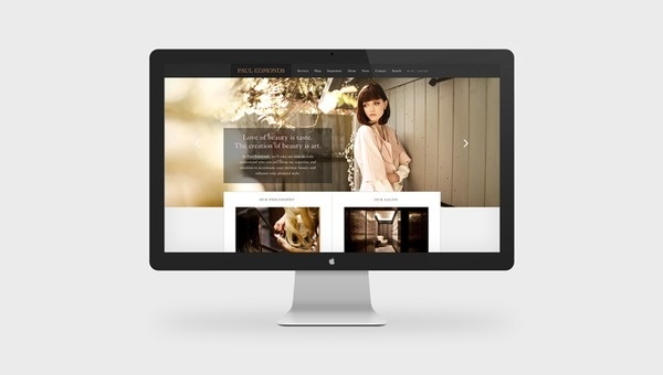 Paul Edmonds #design #graphic #website #hair #digital #fashion #layout #web #style #typography