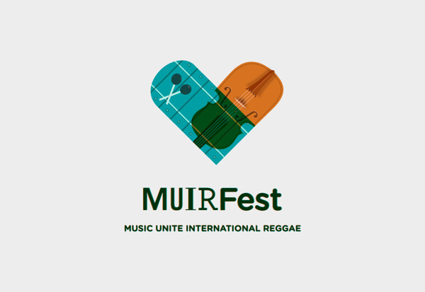 MUIRFest Branding #icon #illustration #music #logo #love