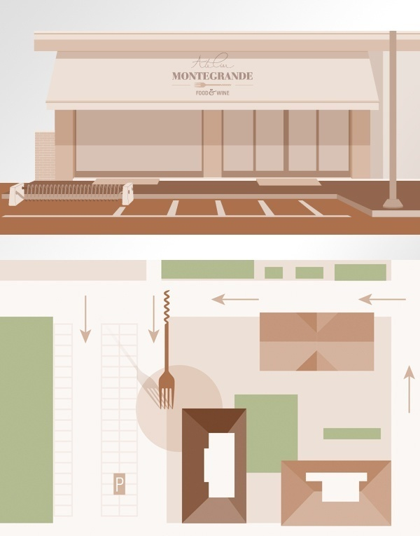 Atelier Montegrande food & wine - infographic by www.o-zone.it #information #infographics #print #infographic #icons #visualizing #info #illustration #graphics