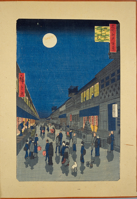 Night View of Sarukawa machi #illustration #japan