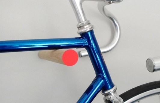 Wooden Bike Hook by Sandra Thomsen #bicycle #wooden #storage #solution #wood #minimalist
