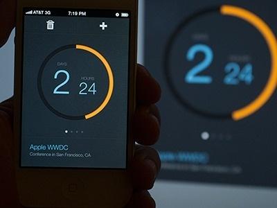Dribbble - Countdown by Kerem Suer #design #app #minimal