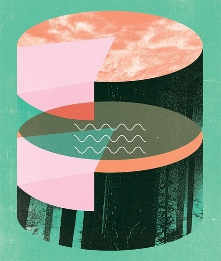 Twin Peaks Inspired Illustrations of Holly Wales   Ape on the Moon: Contemporary Visual Arts #illustration #geometric