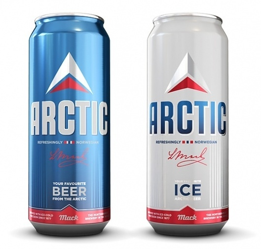 Arctic Beer Packaging #packaging #beer #label